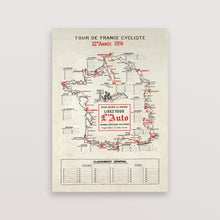 Load image into Gallery viewer, Tour de France Map