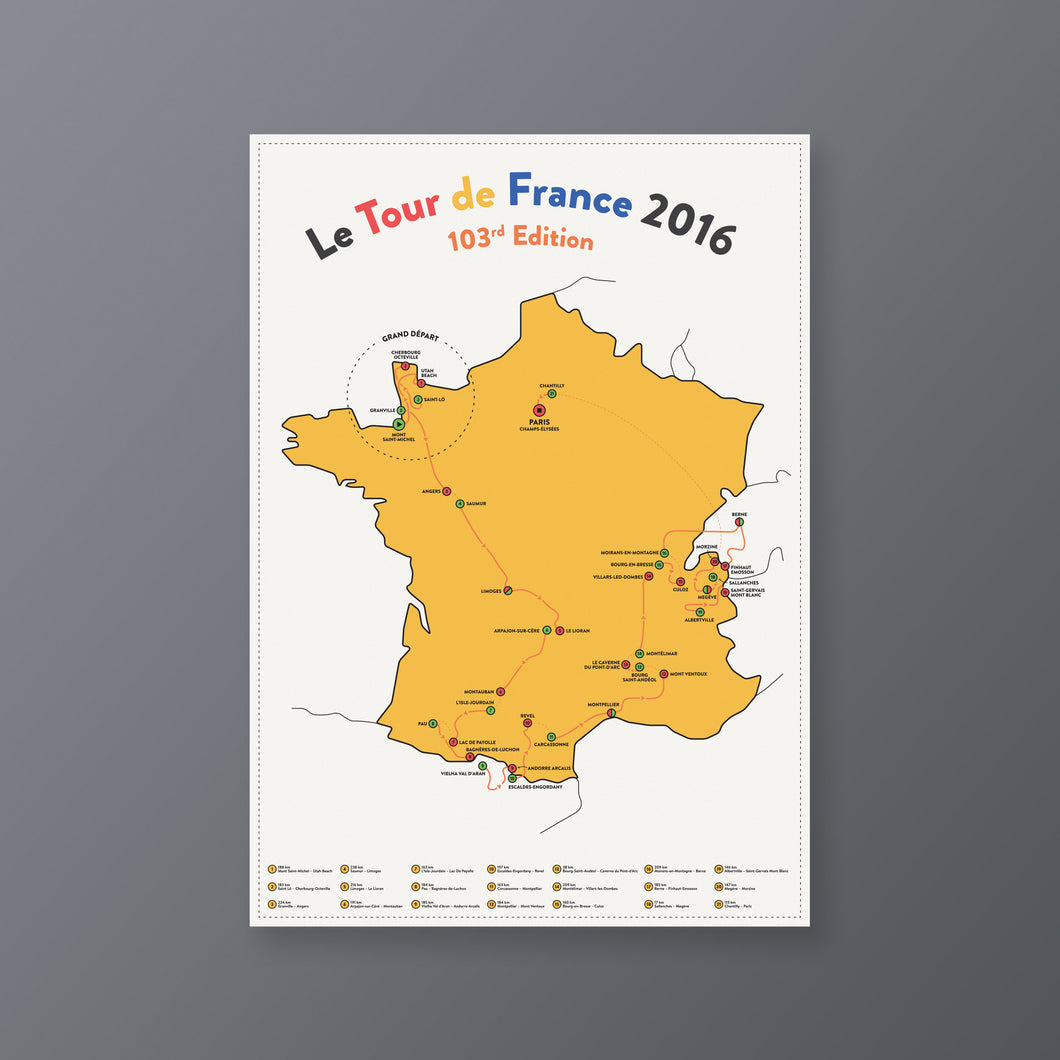 Tour de France — Stages Map 2016