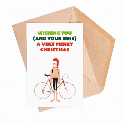 Wishing You (And Your Bike) A Very Merry Christmas Greeting Card – Gifts for Cyclists by the English Cyclist