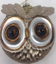 Owl ornament with big eyes