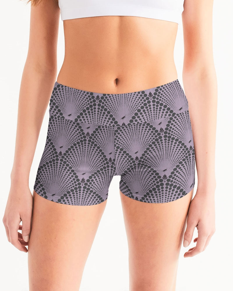 Yoga Shorts in Deco Dot