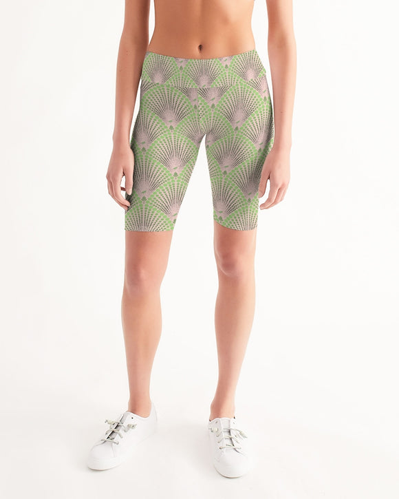 Bicycle / Yoga Short in Deco Dot BLUSH