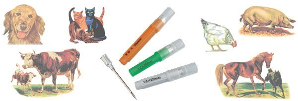 Aluminum Hub Hypodermic Needle, 100/bx. FOR VETERINARY USE ONLY
