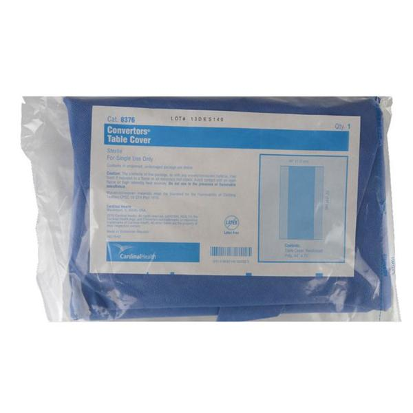 "Cardinal Tiburon Surgical Drapes Converter, Standard Back Table Cover, Sterile, 44 x 75"" - 22/box"