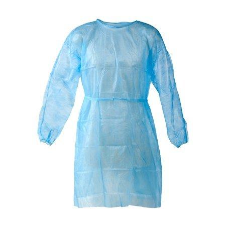 Dukal Isolation Gown, Blue, 10/pkg, 5 pkg/cs