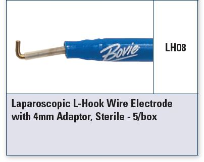 Laparoscopic Electrodes, 4mm Adaptor, Sterile, 5/bx