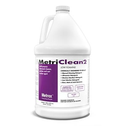 MetriClean 2 Low-foaming multi-purpose concentrated instrument cleaner - 1 Gallon, 4/Box