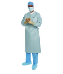 AERO CHROME Breathable Performance Surgical Gown, size Large, AMS Level 4 - 32/Box