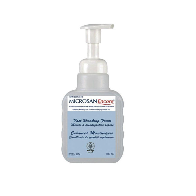 Microsan Encore ®  Foam Alcohol Rub, Hand Sanitizer, 72% alcohol, Pump top