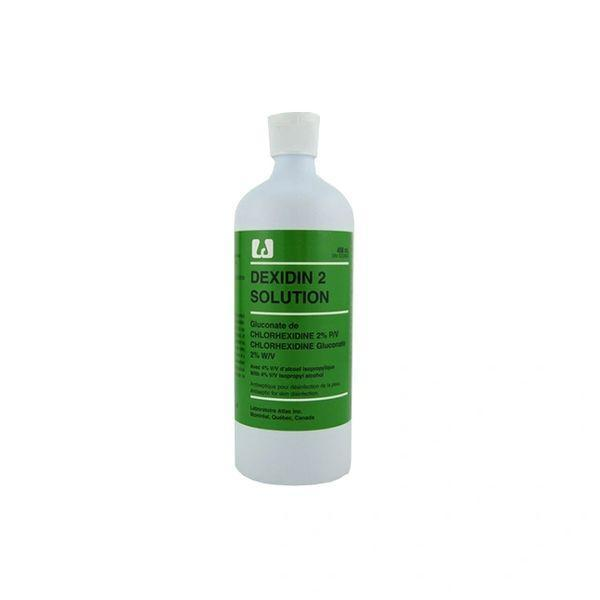 LOW STOCK - Dexidin™ 2 Antiseptic Solution, 2% Chlorohexidine Gluconate, 4% Isopropyl Alcohol, Tinted, 450ml