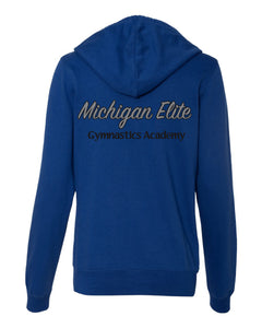 Michigan Elite Gymnastics Academy - Ladies Cobalt Zip Up Hoodie