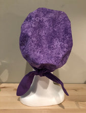 Load image into Gallery viewer, Purple with Flowers and Butterflies - Euro/Turban Style Head Covers/Scrub Cap