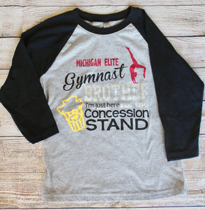 Gymnast Brother - Personalized Family Baseball Style Shirt