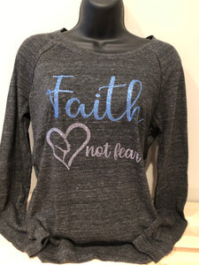 Faith not Fear Gymnastics Long Sleeve lightweight pullover