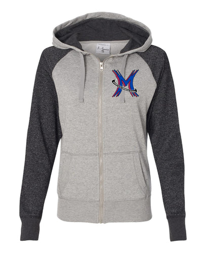 Michigan Elite Gymnastics Academy - Glitter Zip Hoodie (Ladies)