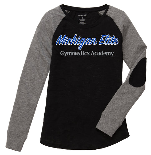 Michigan Elite Gymnastics Academy - Girls Patch Sleeve Long Sleeve Shirt