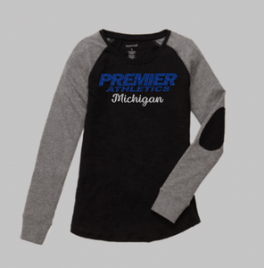 Premier Athletics - Ladies Patch Sleeve Long Sleeve Shirt