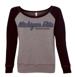 Michigan Elite Gymnastics Academy - Women's Sponge Fleece Wide Neck Sweatshirt