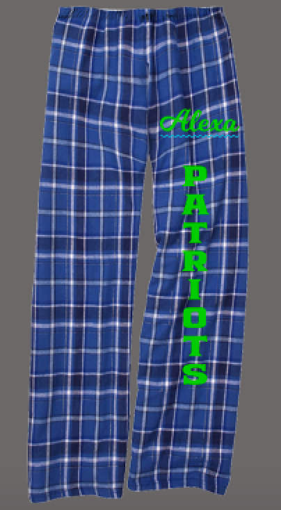 Rays Cheer Custom Flannel Pants (Youth & Adult Sizes)
