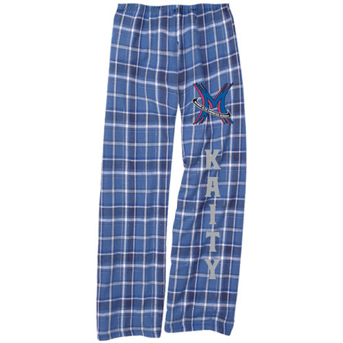 Michigan Elite - Blue/Silver Plaid Flannel Lounge Pants