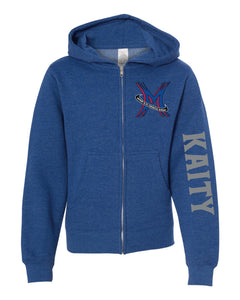 Michigan Elite Gymnastics Academy - Youth Royal Zip Up Hoodie
