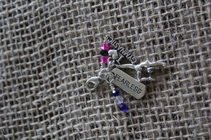 Fearless Gymnast Zipper Pull/Bag Charm