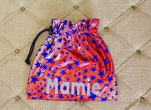 Load image into Gallery viewer, Gymnastics Personalized Grip Bag, Gymnast Gift, gym bag, handmade bag, makeup bag, small drawstring bag, custom bag, cinch sack