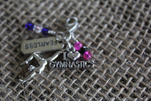 Load image into Gallery viewer, Fearless Gymnast Zipper Pull/Bag Charm