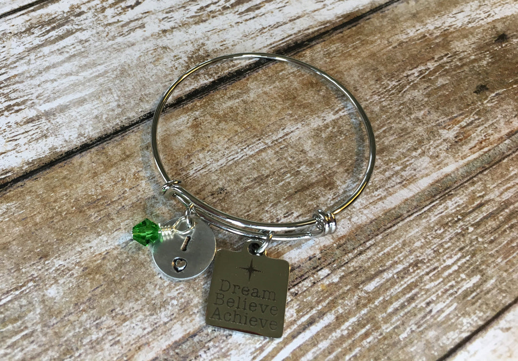 Dream, Believe, Achieve Gymnastics Bracelet