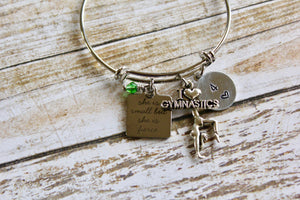 She is Small but She is Fierce Gymnastics Bracelet