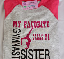Load image into Gallery viewer, Gymnast Sister Shirt - Personalized
