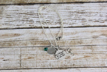 Load image into Gallery viewer, Gymnastics Birthstone Necklace
