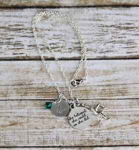Gymnastics Birthstone Necklace
