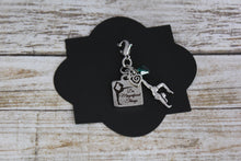 Load image into Gallery viewer, Do Magnificent Things Gymnastics, Silver Charm, Inspirational Zipper Pull, Gymnastics Gift, Personalized Gift, Motivational Gymnast Gift,
