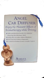 AMRITA AROMATHERAPY Ceramic Angel Car Diffuser - bright-eyes-life