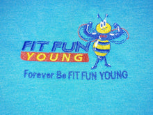 FIT FUN YOUNG WOMEN'S TRI RACERBACK TANK - TURQUOISE FROST
