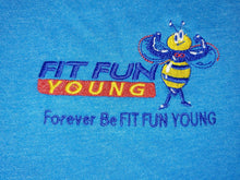FIT FUN YOUNG WOMEN'S TEE W/ TAPERED SHORT SLEEVES - HEATHERED BRIGHT TURQUOISE