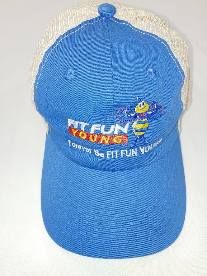 FIT FUN YOUNG UNISEX BEACH WASH MESH HAT - ONE SIZE -  BLUE MOON / STONE