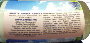 AMRITA AROMATHERAPY Mental Energizer Roll-On Relief 30mL/1 fl oz - bright-eyes-life