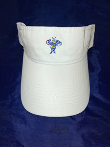 FIT FUN YOUNG UNISEX WASHED TWILL VISOR - ONE SIZE- WHITE
