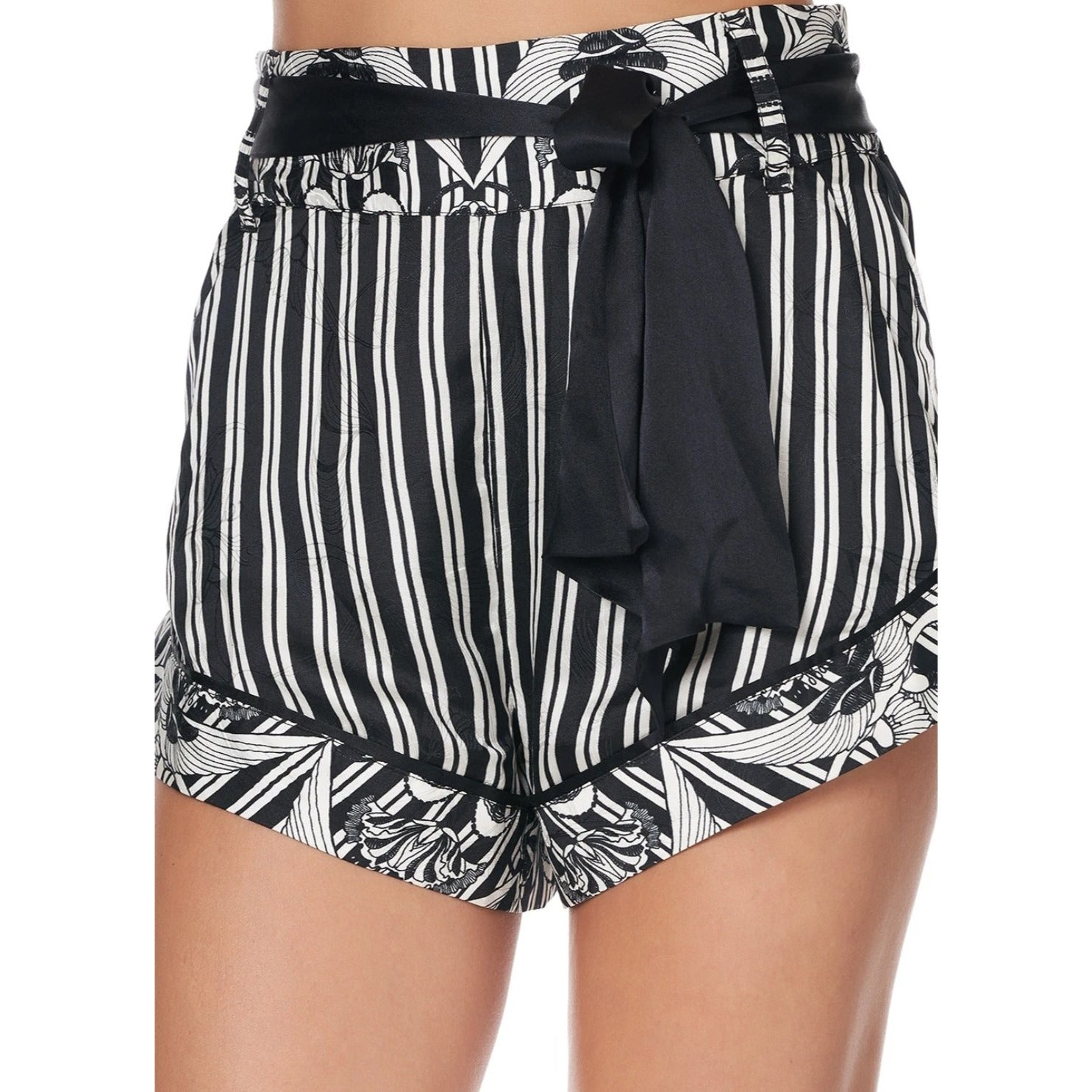 Silver Linings Tie Detail High Cut Shorts