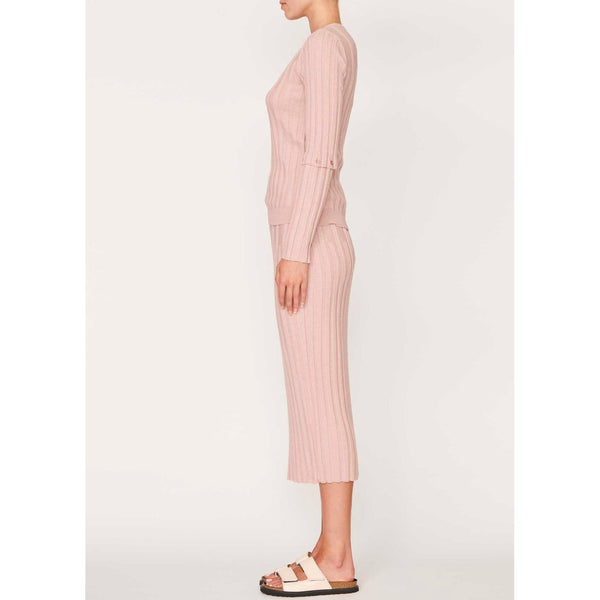 Lou Button Sleeve Rib Knit