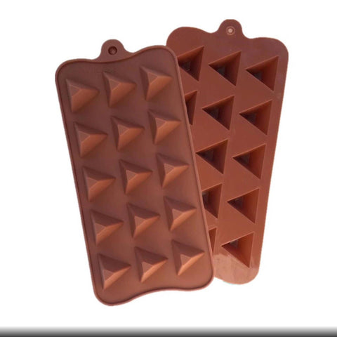 3D Triangle Pyramid Shapes Fondant Mold