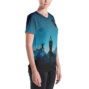 Women's V-neck All Around hiking and climbing