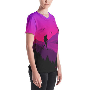 Women's V-neck All Over hiker