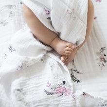 Bunny Tails + Garland Muslin Swaddle Blanket