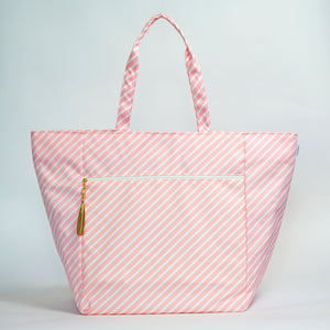 Carryall Oversized - Blush Stripe