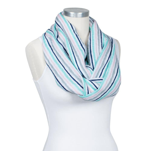 Muslin Candy Stripes Nursing Scarf