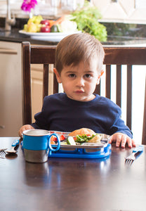 Din Din SMART Stainless Mealtime Set - Blue