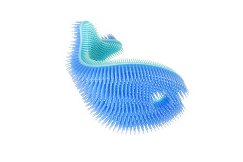 Bathin' Smart Silicone Bath Scrub - Fish -Periwinkle/Aqua